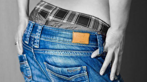 ג'ינס, מכנסיים , דוגמן, כחול